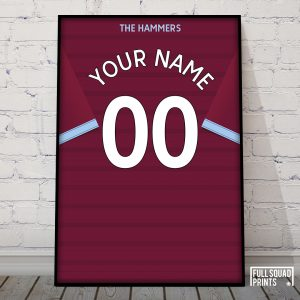 Personalised West Ham Shirt Print