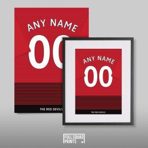 Personalised Man United shirt print