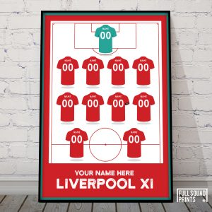 Personalised Liverpool football print