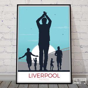 Liverpool fc Poster Sunset Print V2