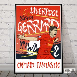 Steven Gerrard Liverpool fc Poster