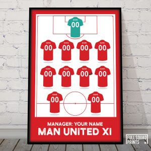Personalised Man United print