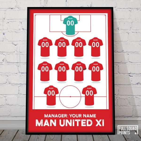 Personalised Man United football print