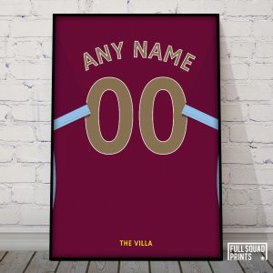 Personalised Aston Villa poster
