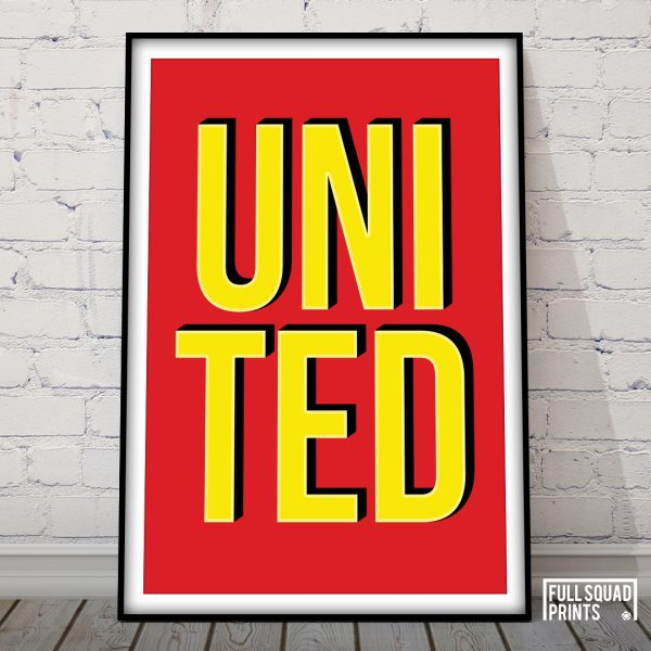 Man United Poster