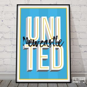 Newcastle Typography Poster